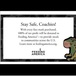 Coach Accessories - 🆕 Coach Rexy 🦖 Face Mask Wild Beast